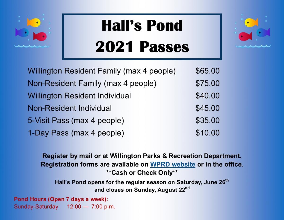 Halls Pond Pass Prices