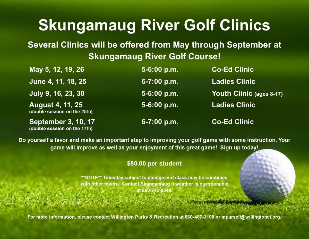 golf clinics 2020