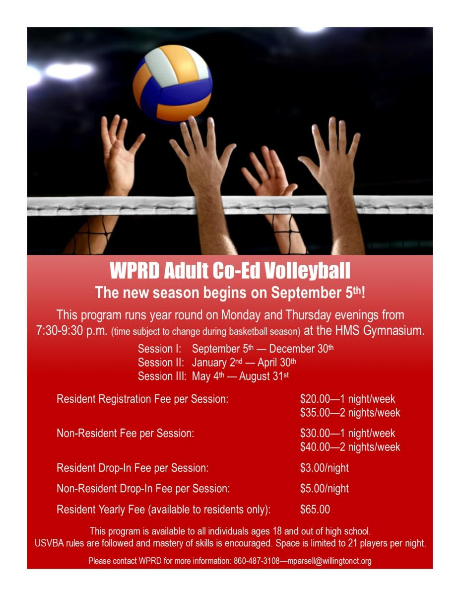 adult co ed volleyball