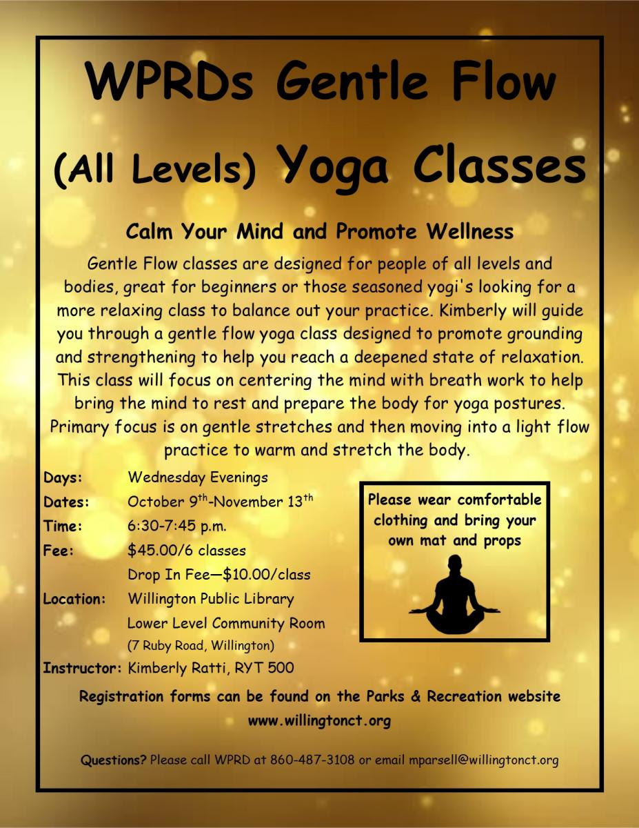 gentle flow yoga fall 2019