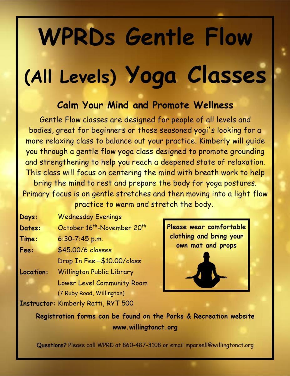gentle flow yoga fall 2019